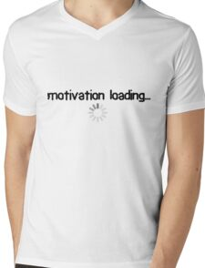 trying to motivate myself Mens V-Neck T-Shirt