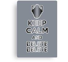 Cyberman Delete Delete Canvas Print