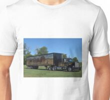 1973 Kenworth W900 Black and Gold Semi Truck Unisex T-Shirt