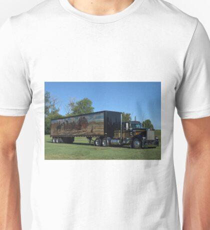 1973 Kenworth W900 Black and Gold Semi Truck Unisex T-Shirt