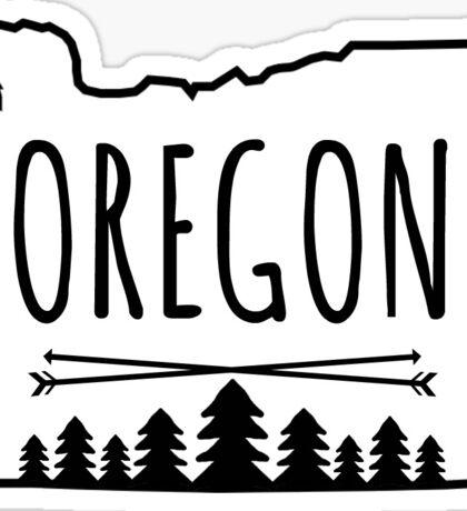 Oregon Trees - in white Sticker