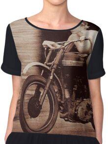 Vintage Biker Girl Chiffon Top
