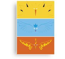 Pokemon - Legendary Birds Canvas Print