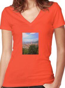 Landscape Women's Fitted V-Neck T-Shirt