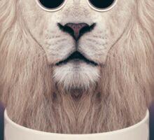 Caffeinimals: Lion Sticker