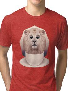 Caffeinimals: Lion Tri-blend T-Shirt