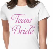 Team Bride Bachelorette Party T Shirt Womens Fitted T-Shirt