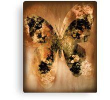Golden Buterfly Canvas Print