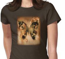 Golden Buterfly Womens Fitted T-Shirt