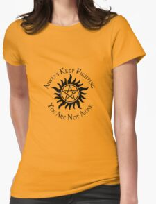 Supernatural Not Alone v1.0 Womens Fitted T-Shirt