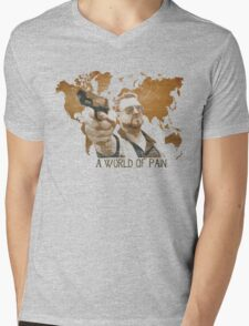 A World Of Pain Mens V-Neck T-Shirt