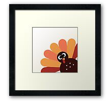 Happy thanksgiving Day Turkey Framed Print