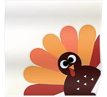 Happy thanksgiving Day Turkey Poster