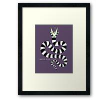beetlejuice - sandworm Framed Print