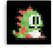 Bubble Bobble Green Dragon  Canvas Print
