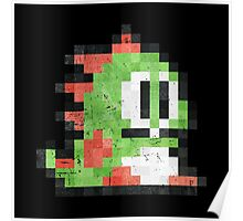 Bubble Bobble Green Dragon  Poster