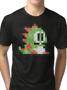 Bubble Bobble Green Dragon  Tri-blend T-Shirt