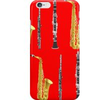 Instruments with a Red Background Holiday gift idea iPhone Case/Skin