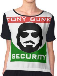 Tony Gunk Security Chiffon Top