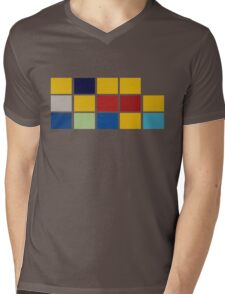 Simpsons Minimalist Mens V-Neck T-Shirt