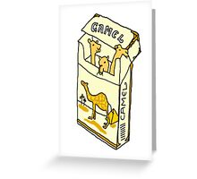camel cigarette  Greeting Card