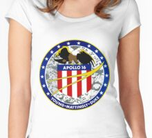 Apollo 16 Mission Logo Women's Fitted Scoop T-Shirt