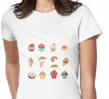 Desserts Womens Fitted T-Shirt