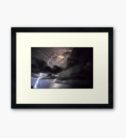 Lightning in HDR Framed Print