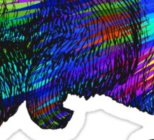 Rainbow Burst Panda Sticker