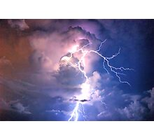 Lightning in HDR Photographic Print