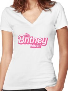 It's Britney, bitch! Women's Fitted V-Neck T-Shirt