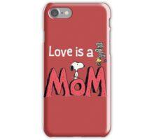 Snoopy Love Mom iPhone Case/Skin