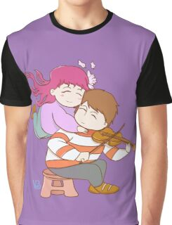 Couple love music and violin Graphic T-Shirt