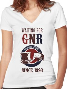 Waiting for classic GNR Not in this lifetime Women's Fitted V-Neck T-Shirt