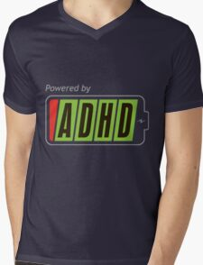 Powered By ADHD Mens V-Neck T-Shirt