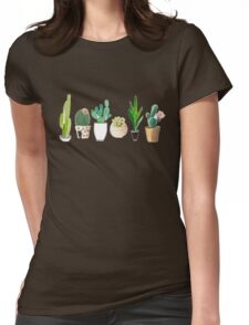 POTTED CACTI Womens Fitted T-Shirt