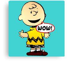 Charlie Brown Wow Canvas Print