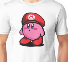 Kirby With Mario Hat Fanart Unisex T-Shirt