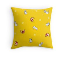 cats playing Throw Pillow