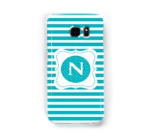 Striped Letter N Samsung Galaxy Case/Skin