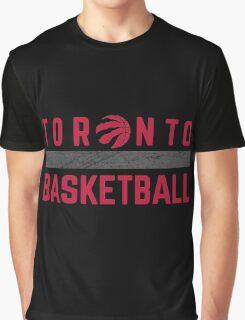 Toronto Raptors Basketball wordmark with logo Graphic T-Shirt