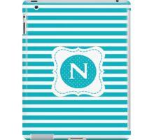 Striped Letter N iPad Case/Skin