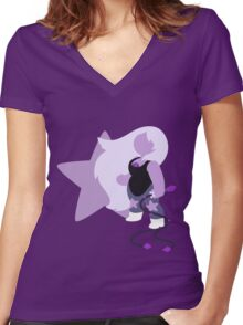 Amethyst (Purple) Women's Fitted V-Neck T-Shirt