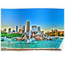 Buckingham Fountain in HDR Poster
