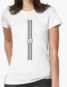 N Turquoise Chevron II Womens Fitted T-Shirt