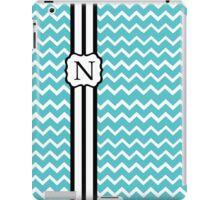 N Turquoise Chevron II iPad Case/Skin