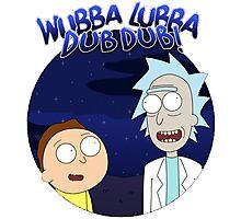 Wubba Lubba Dub Dub Rick Qoutes Photographic Print
