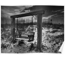 Tybee Island Swing 003 BW Poster