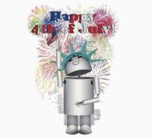 Lady Liberty Robo-x9  Celebrates Independence One Piece - Short Sleeve