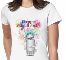 Lady Liberty Robo-x9  Celebrates Independence Womens Fitted T-Shirt